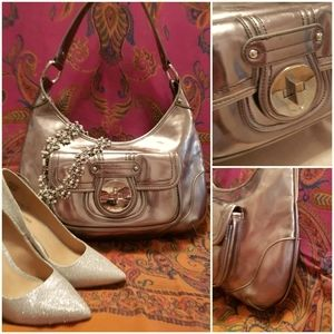 Silver Patent Leather Bag